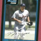 2006 Bowman Nate Bumstead Detroit Tigers Rookie # B74
