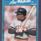 1990 Donruss Baseballs Best Blue Lou Whitaker Detroit Tigers # 119