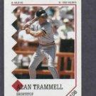 1992 Paninni Alan Trammell Sticker Detroit Tigers # 108 Oddball