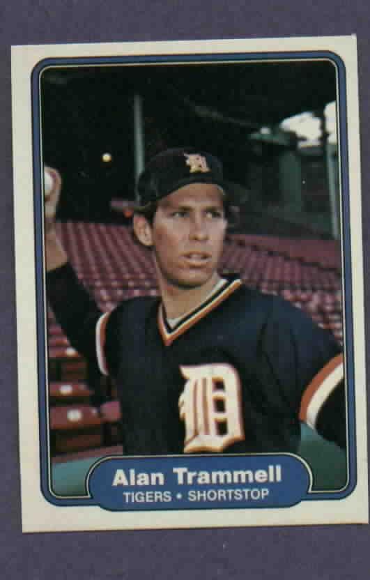 1982 Fleer Alan Trammell Detroit Tigers # 283