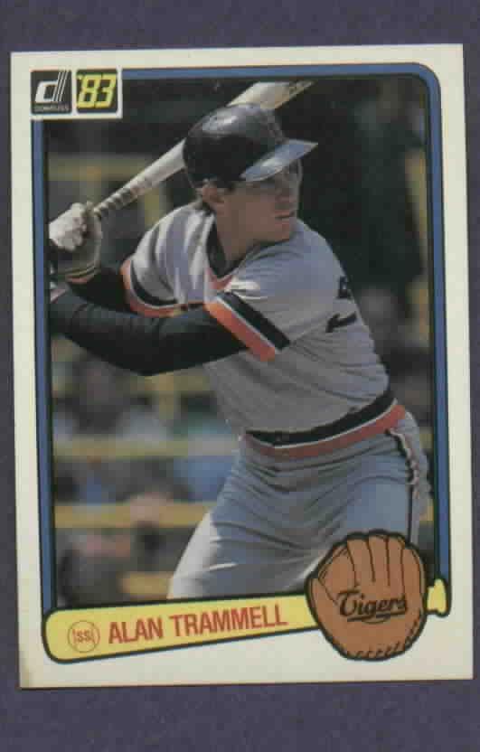 1983 Donruss Alan Trammell Detroit Tigers # 207