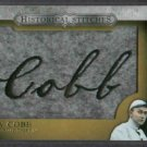 2012 Topps Historical Stiches Ty Cobb Detroit Tigers # HS-TC