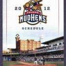 2012 Toledo Mudhens Pocket Schedule Mud Hens