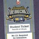December 11 2010 Big Chill Michigan Michigan State Hockey Ticket Stub