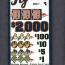 Detroit Tigers Michigan Lottery Pull Tab Bingo Oddball Collectable