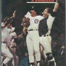 1985 Detroit Tigers World Champions Scorebook VS Oakland A's Unscored