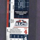 2012 ALCS Phantom Game Ticket Detroit Tigers New York Yankees Home Game 4