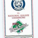 1987 Detroit Tigers Phantom World Series Ticket RARE NO SEAT LOCATION Game 6