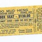 August 15 1980 Toledo Mud Hens Full Season Ticket Mudhens