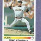 1990 Panini Sticker Mike Henneman Detroit Tigers # 69 Oddball