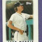 1988 Topps Mini Leaders Jack Morris Detroit Tigers # 11 Oddball