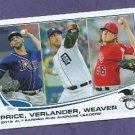 2013 Topps ERA Leaders Justin Verlander Detroit Tigers # 94