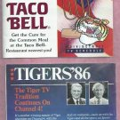 1986 Detroit Tigers Taco Bell WDIV Pocket Schedule