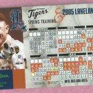 2005 Lakeland & Detroit Tigers Holiday Inn Magnet Schedule