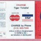 1986 Detroit Tigers Mastercard Visa Pocket Schedule UNFOLDED Mint