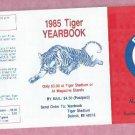1985 Detroit Tigers Yearbook Pocket Schedule Unfolded MINT