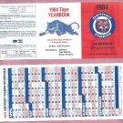 1984 Detroit Tigers Yearbook Pocket Schedule Unfolded World Series