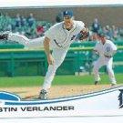 2013 Topps Baseball Justin Verlander Detroit Tigers # 35