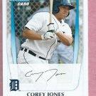 2011 Bowman Corey Jones Detroit Tigers ROOKIE # BP43