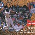 1992 93 Budweiser Detroit Tigers Calander Cecil Fielder SGA