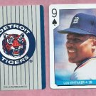 Lou Whitaker US Playing Card Detroit Tigers Oddball 9 Spades