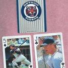 Pair 1992 US Playing Cards Rob Deer Detroit Tigers Oddball