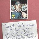 1977 Topps Jason Thompson Detroit Tigers Autograph Auto # 291