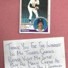 1983 Topps Dave Rozema Detroit Tigers Autograph Auto # 562