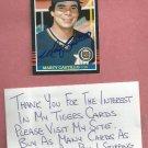 1985 Donruss Marty Castillo Detroit Tigers Autograph Auto # 394