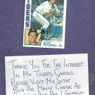 1984 Topps Alan Trammell Detroit Tigers Autograph Auto Signed World Series # 510