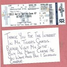 2013 Detroit Tigers Phantom World Series Ticket Game 7