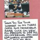 2000 Topps Stadium Club Brad Ausmus Detroit Tigers # 199