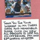 2000 Upper Deck All Star Game Brad Ausmus Detroit Tigers # 114