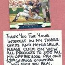 2001 Topps Stadium Club Brad Ausmus Detroit Tigers # 11
