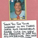 1987 Topps All Star Lance Parrish Detroit Tigers # 613