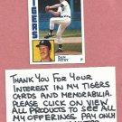 1984 Topps Dan Petry Detroit Tigers # 147