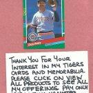 1991 Donruss Dan Petry Detroit Tigers # 675