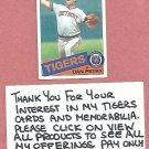 1985 Topps Dan Petry Detroit Tigers # 435