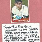 1965 Topps Dick McAuliffe Detroit Tigers # 53