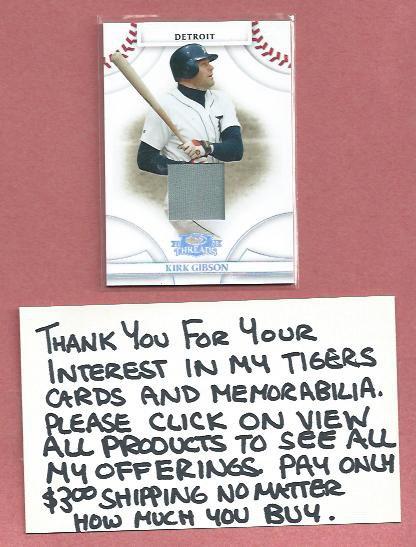 2008 Donruss Threads Kirk Gibson Detroit Tigers Jersey Card # 25 #D /250