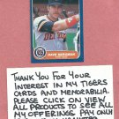 1986 Fleer Dave Bergman Detroit Tigers # 222