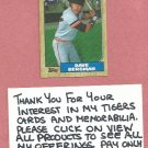 1987 Topps Dave Bergman Detroit Tigers # 700