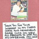 1989 Fleer Dave Bergman Detroit Tigers # 129