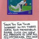 2013 Topps Chrome Purple Refractor Bruce Rondon Detroit Tigers Rookie # 85