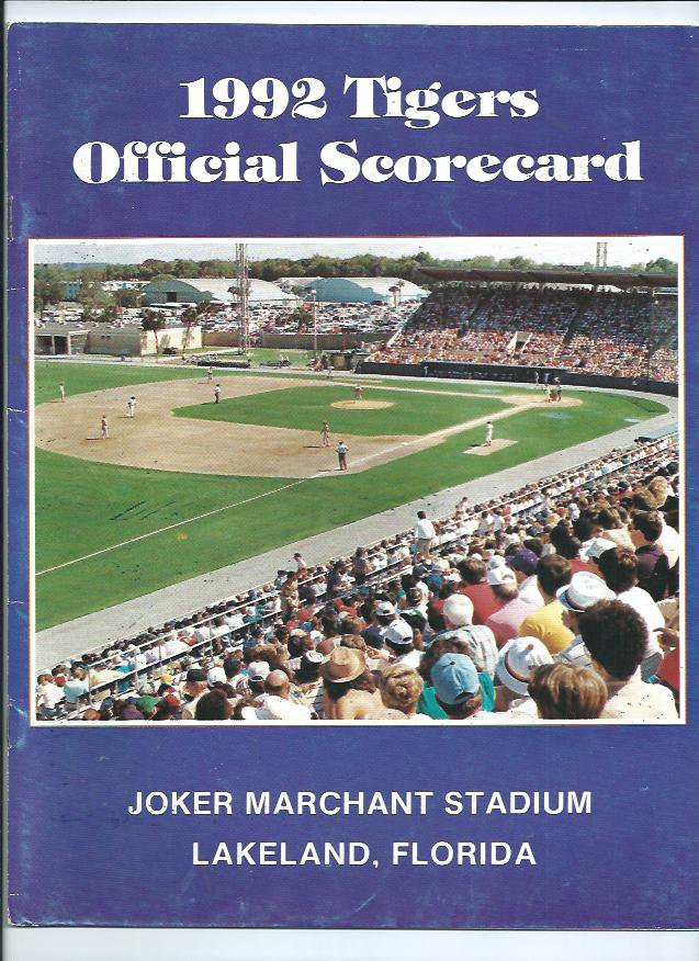 1992 Detroit Tigers Spring Training Program + Bonus