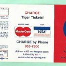 1983 Detroit Tigers Mastercard / Visa Pocket Schedule Unfolded