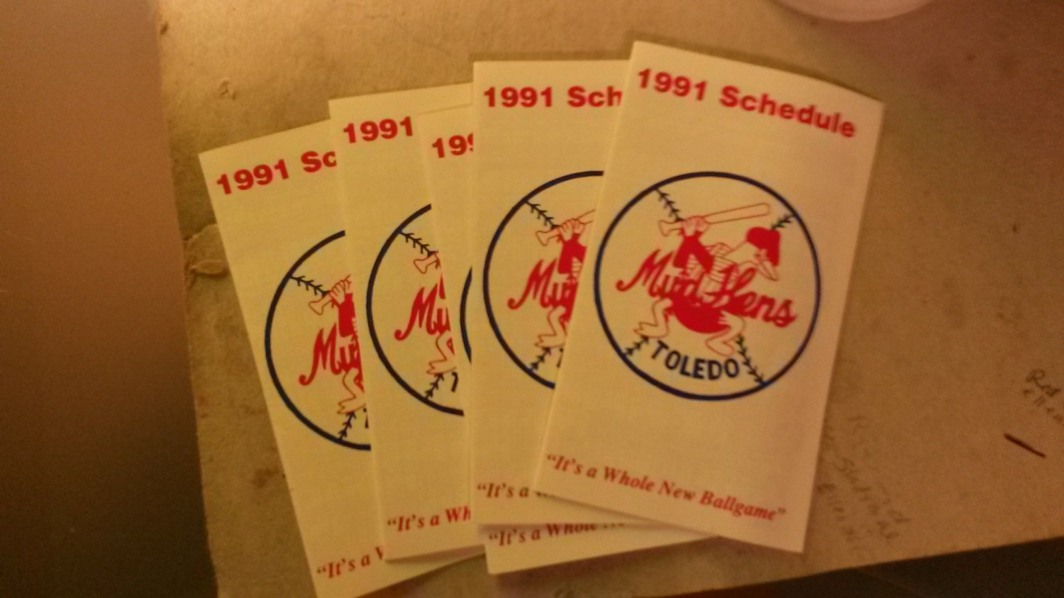 1991 Toledo Mud Hens Pocket Schedule
