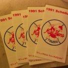 1991 Toledo Mud Hens Pocket Schedule