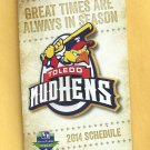 2014 Toledo Mudhens Pocket Schedule