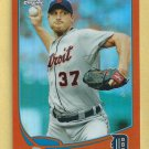 2013 Topps Chrome Orange Refractor Max Scherzer Detroit Tigers # 40